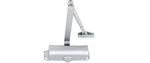 Power size 1/2/3/4 door closer, rack & pinion with link arm