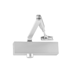 EN selectable 2-4 door closer, rack & pinion with link arm